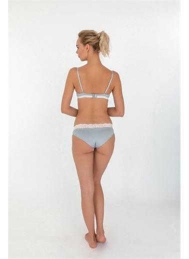 Hays Hays 29902B147 Puantiyeli Dantel Detaylı Yarı Push Up Destekli Kadın Sütyen Beyaz